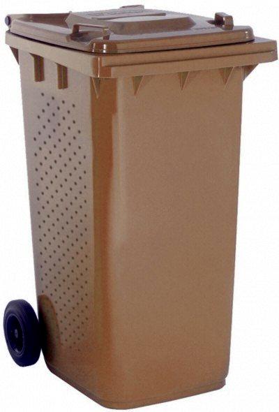 Poważne Pojemnik brązowy 120 litrów na odpady bio z wentylacją - ePROMAG.pl VS03