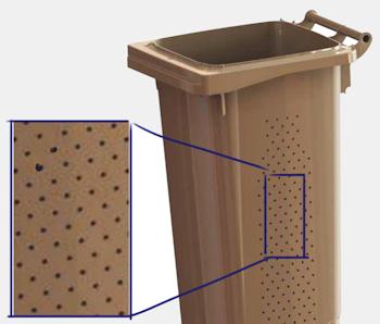 Fantastyczny Pojemnik na odpady biodegradowalne z wentylacją i kratką - ePROMAG.pl CZ91