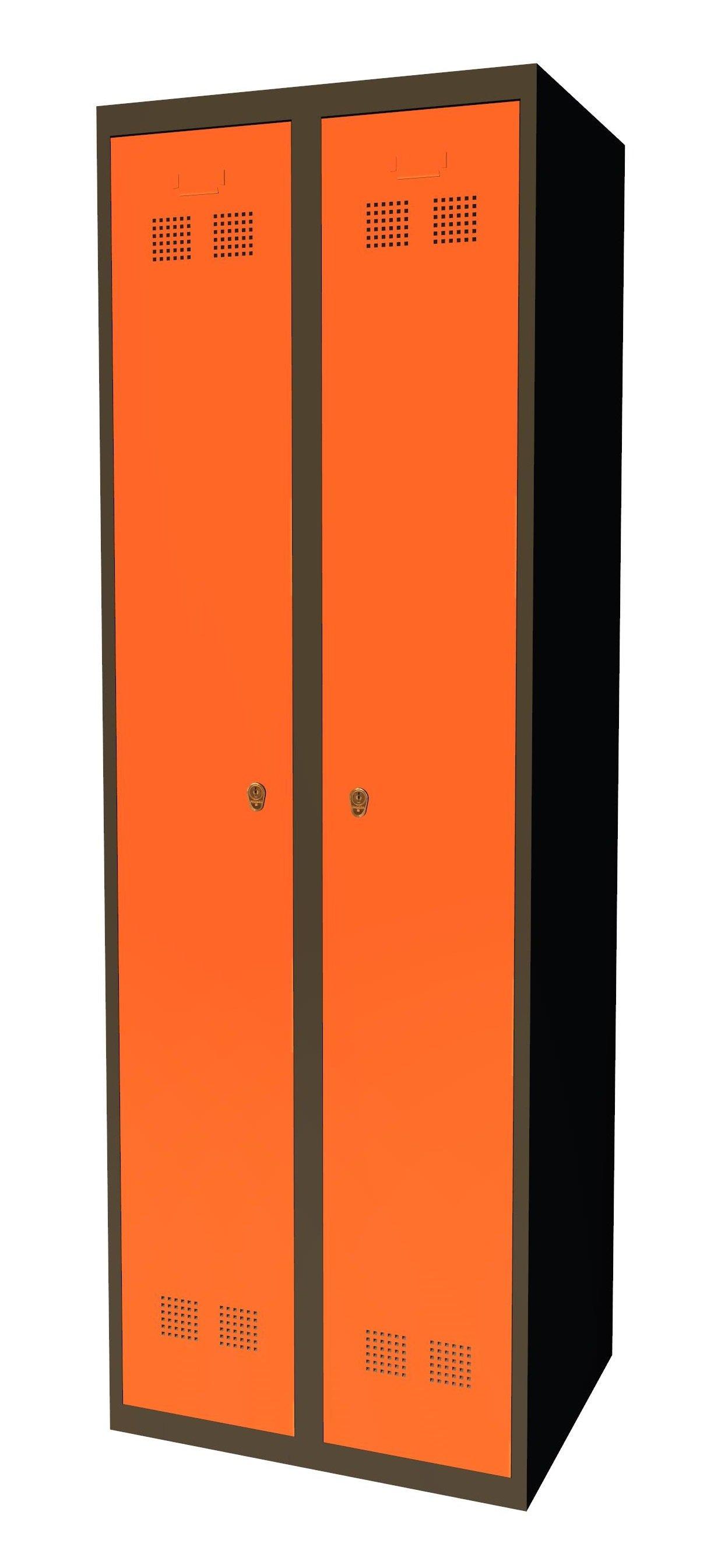 Szafka pracownicza grafitowo pomarańczowa