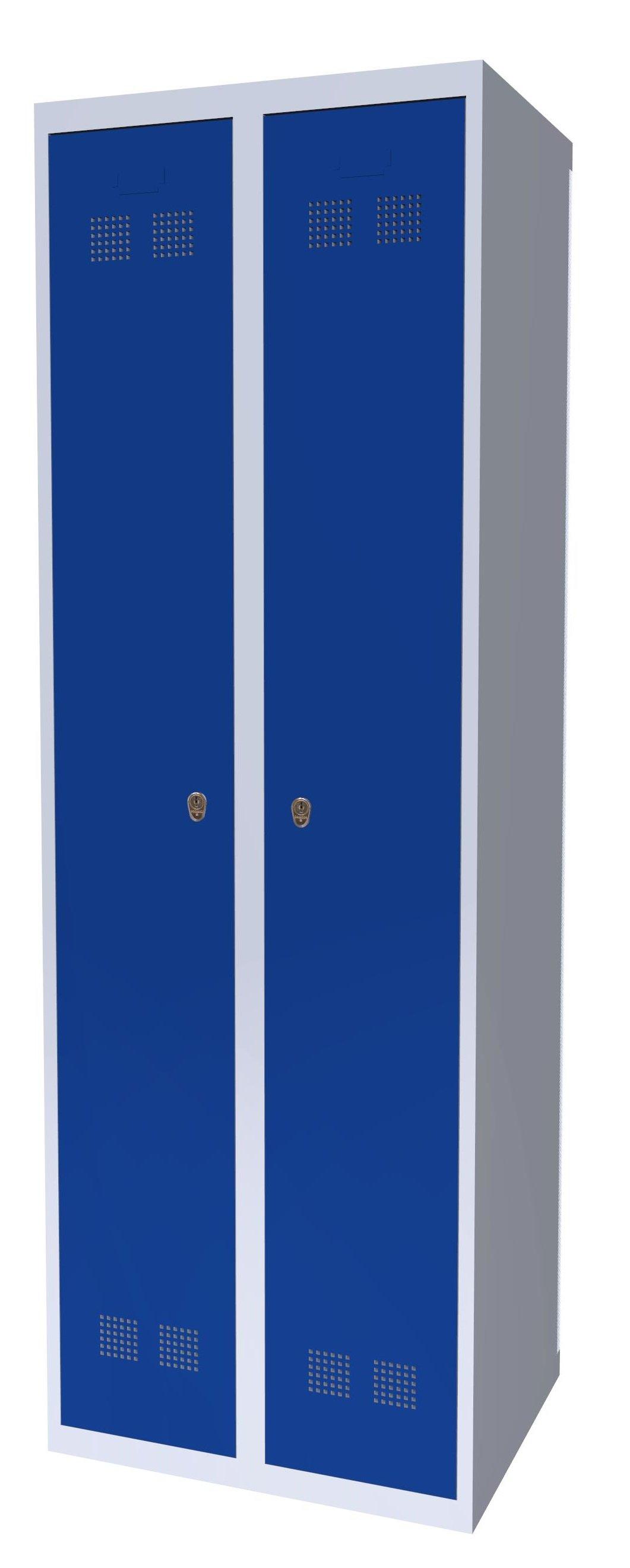 Szafka ubraniowa pracownicza SUP E300-02 7035/5005