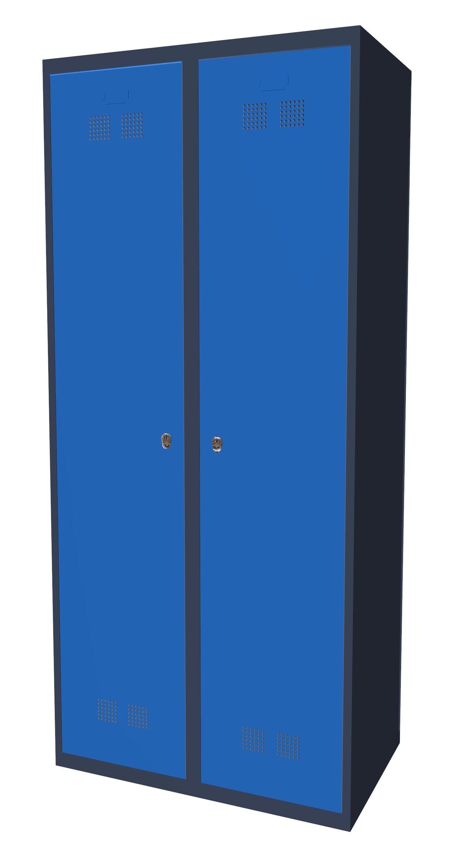 Szafka ubraniowa pracownicza SUP E400-02 7024/5015