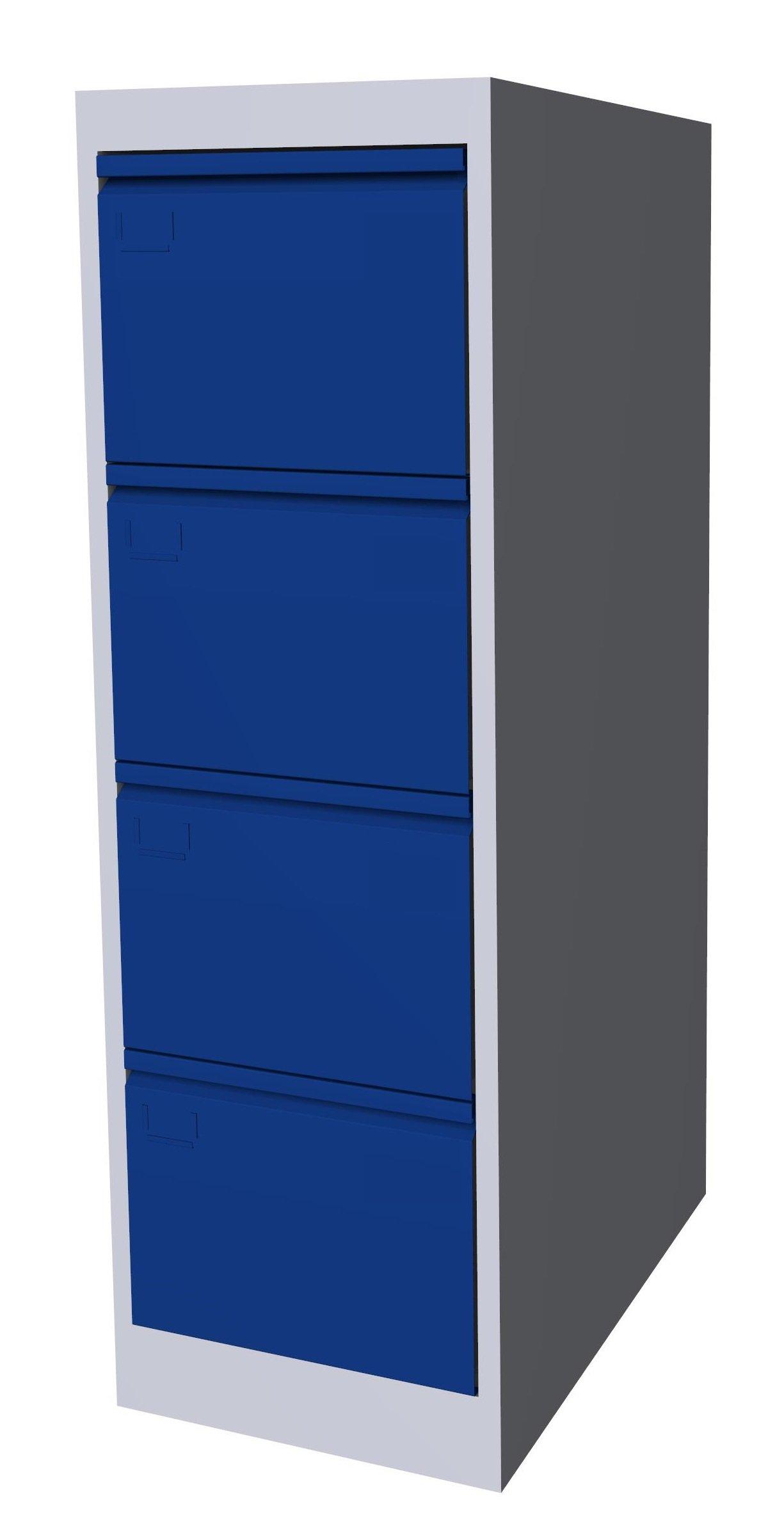 Szafa kartotekowa SK-A4/4 7035/5005