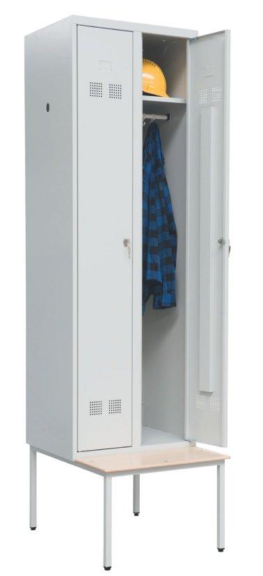 Szafka bhp SUP E 300-02 z ławką jednostronną