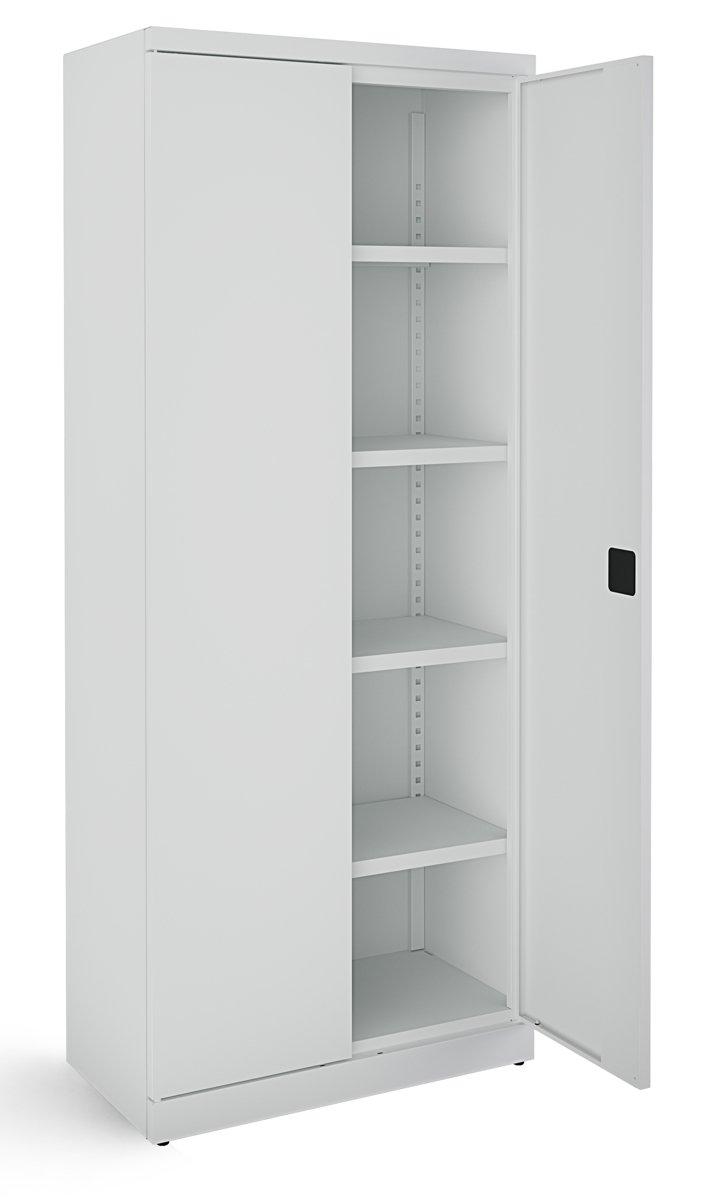 Metalowa szafa biurowa SB 800 popielata RAL 7035