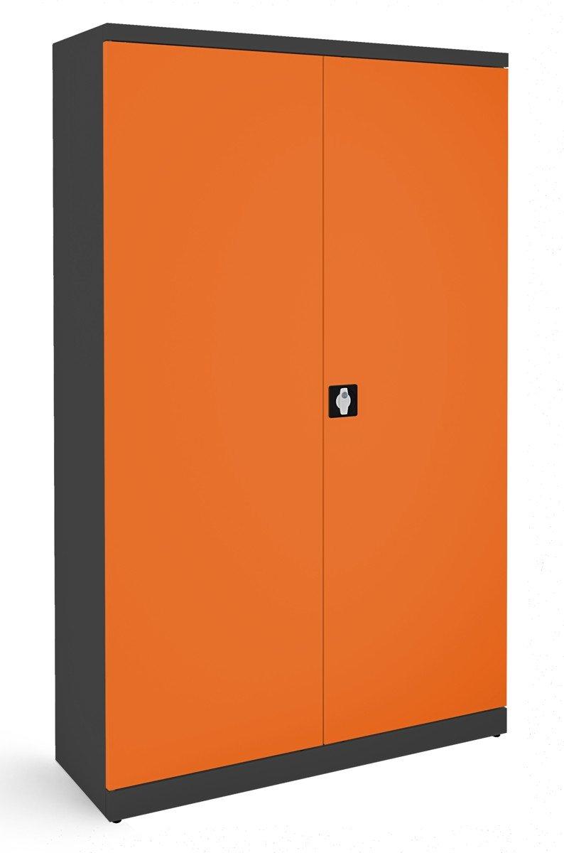 Szafa biurowa SB 1200 grafitowo-pomarańczowa