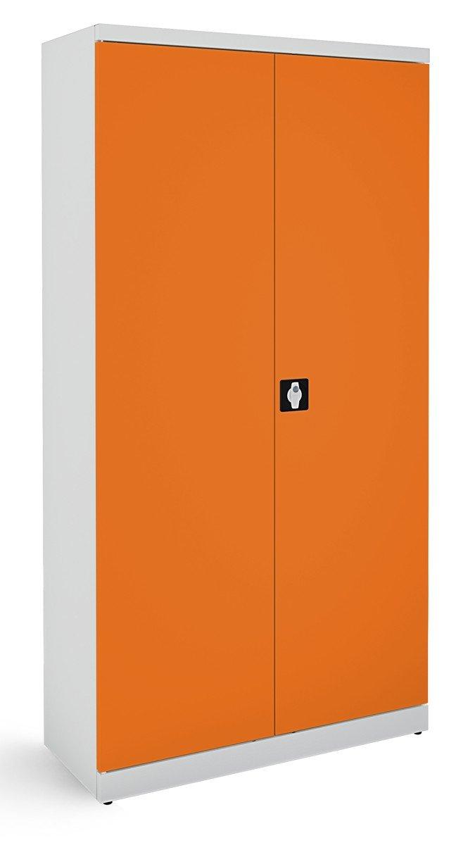 Metalowa szafa biurowa SB 1000 popielato-pomarańczowa