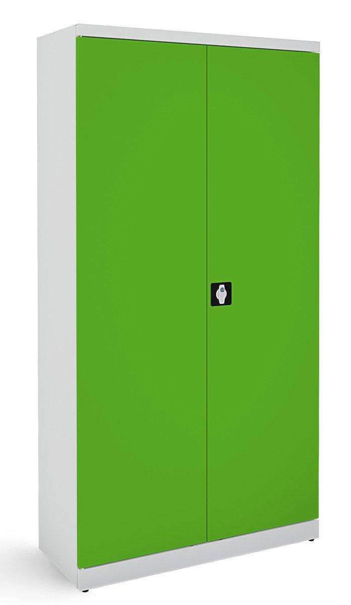 Metalowa szafa biurowa SB 1000 popielato-zielona