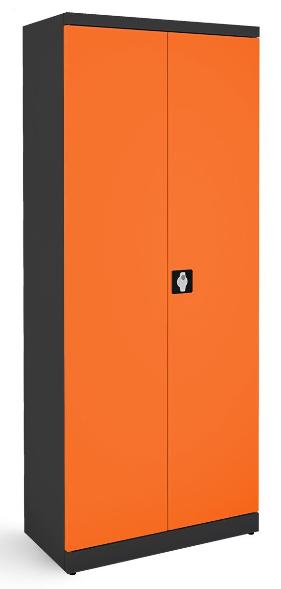 Metalowa szafa biurowa SB 800 grafitowo-pomarańczowa
