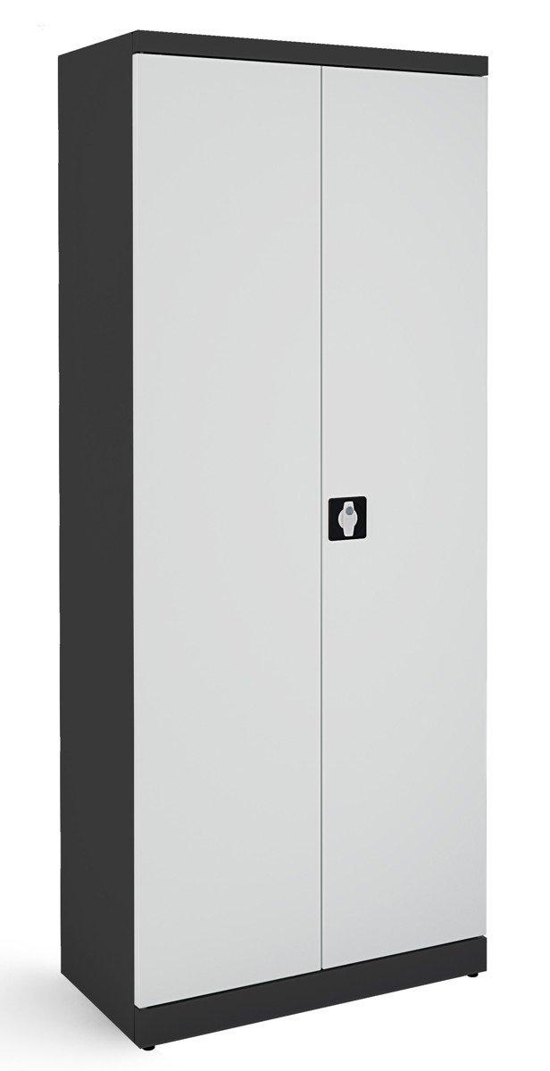 Metalowa szafa biurowa SB 800 grafitowo-popielata