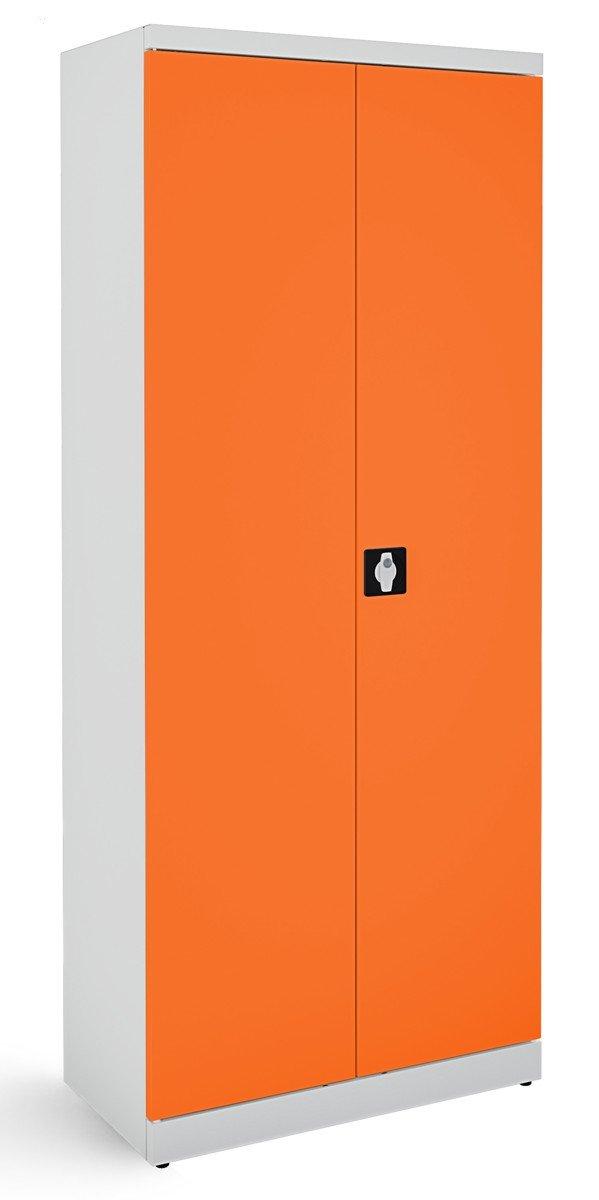 Metalowa szafa biurowa SB 800 popielato-pomarańczowa