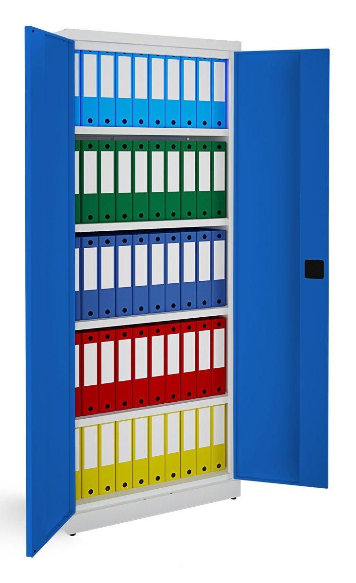 Metalowa szafa biurowa SB 800 popielato-niebieska