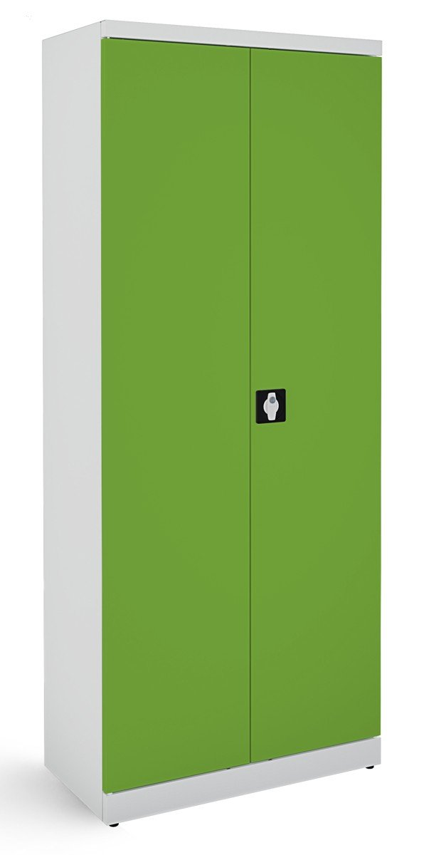 Metalowa szafa biurowa SB 800 popielato-zielona