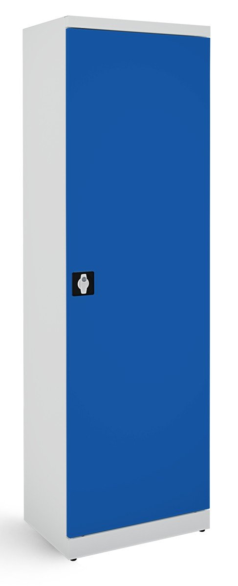 Metalowa szafa biurowa SB600 popielato-niebieska