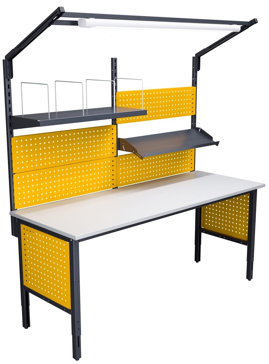 Stół kompletacyjny o szerokości 2000 mm wersja wyposażenia 03b