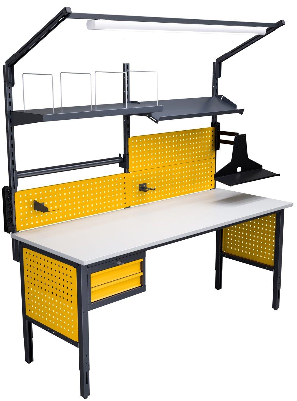Stół kompletacyjny o szerokości 2000 mm wersja wyposażenia 04b