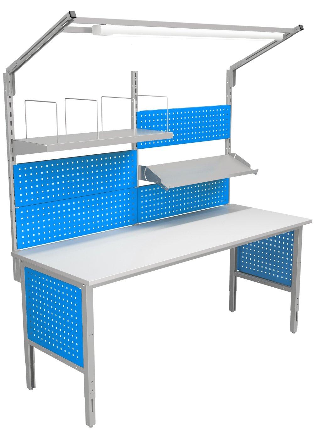 Stół kompletacyjny o szerokości 2000 mm wersja wyposażenia 03