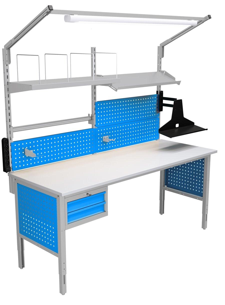 Stół kompletacyjny o szerokości 2000 mm wersja wyposażenia 04