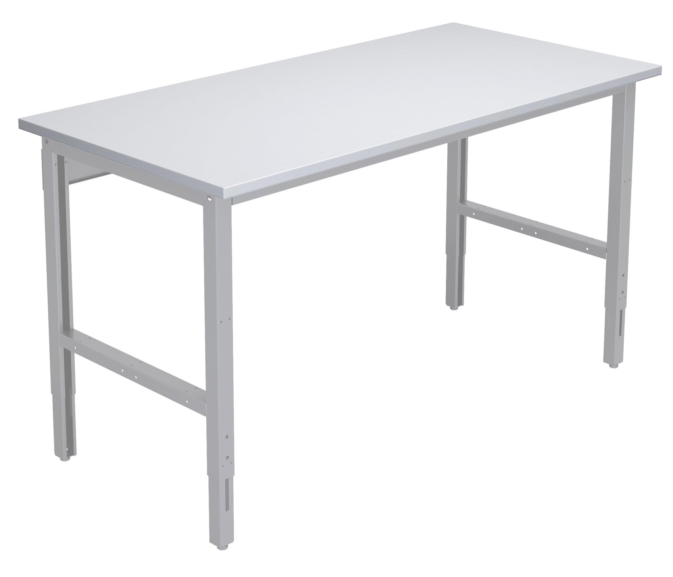 Stół do kompletacji o szerokości 1550 mm z ręczną regulacją wysokości