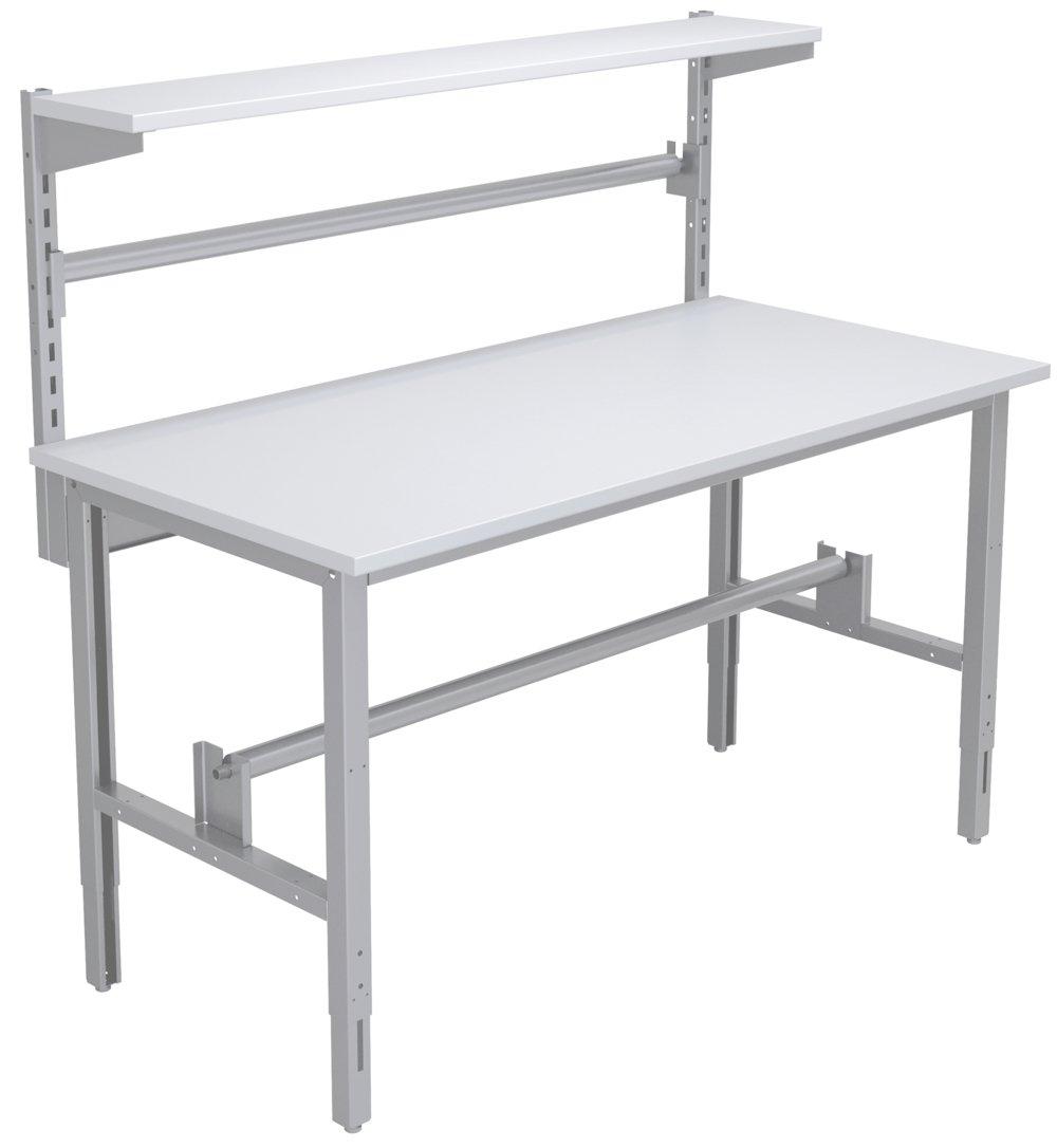 Stół do pakowania z zabudową m.in. uchwytem do folii