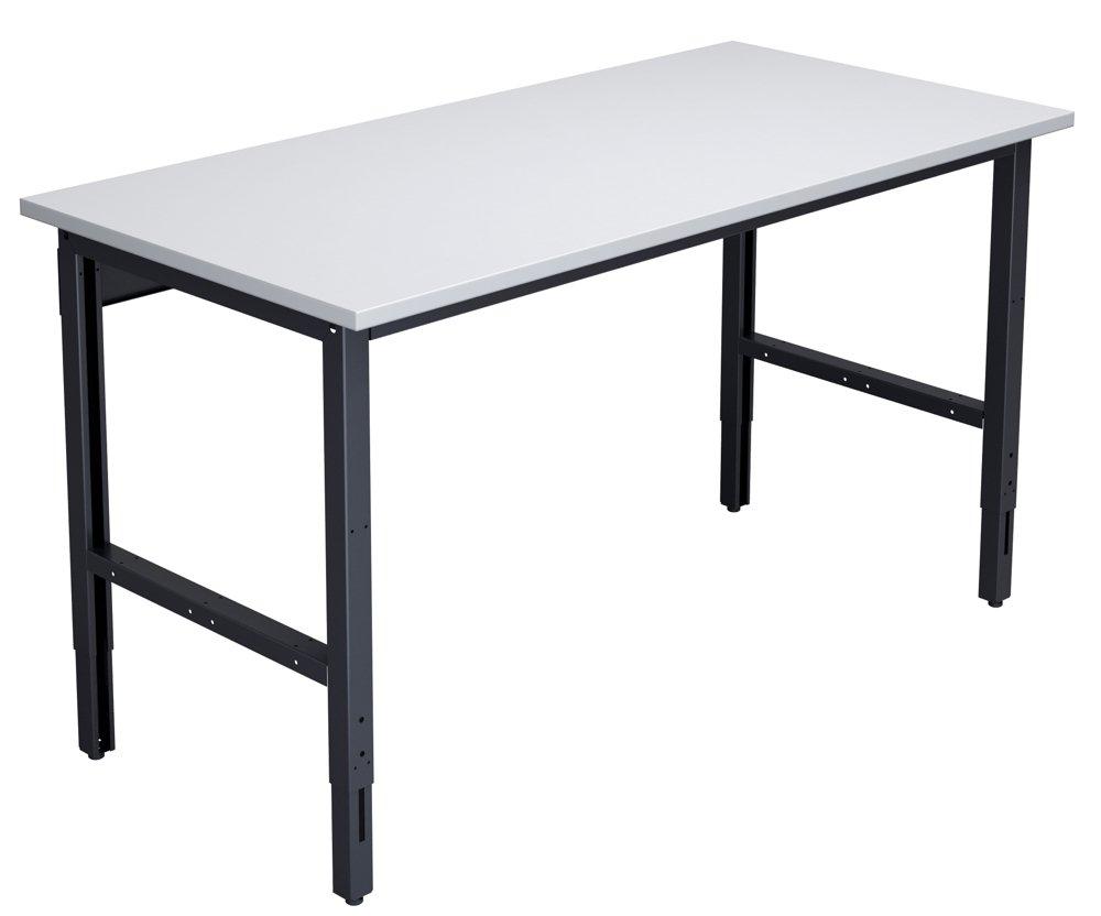 Stół do pakowania o szerokości 1550 mm z ręczną regulacją wysokości