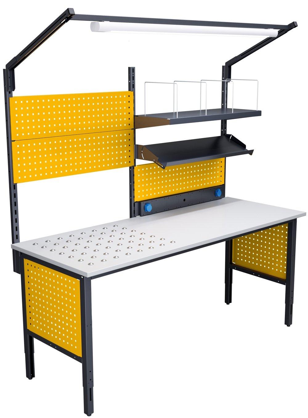 Stół kompletacyjny 2000 mm z blatem kulowym i oświetleniem LED 7024/1023