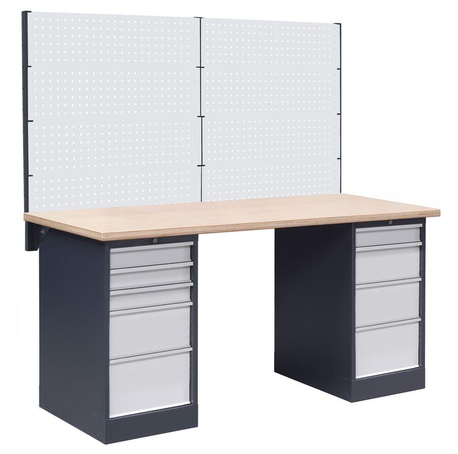 Stół warsztatowy OL03/O4O7 z nadbudową PL03/8T