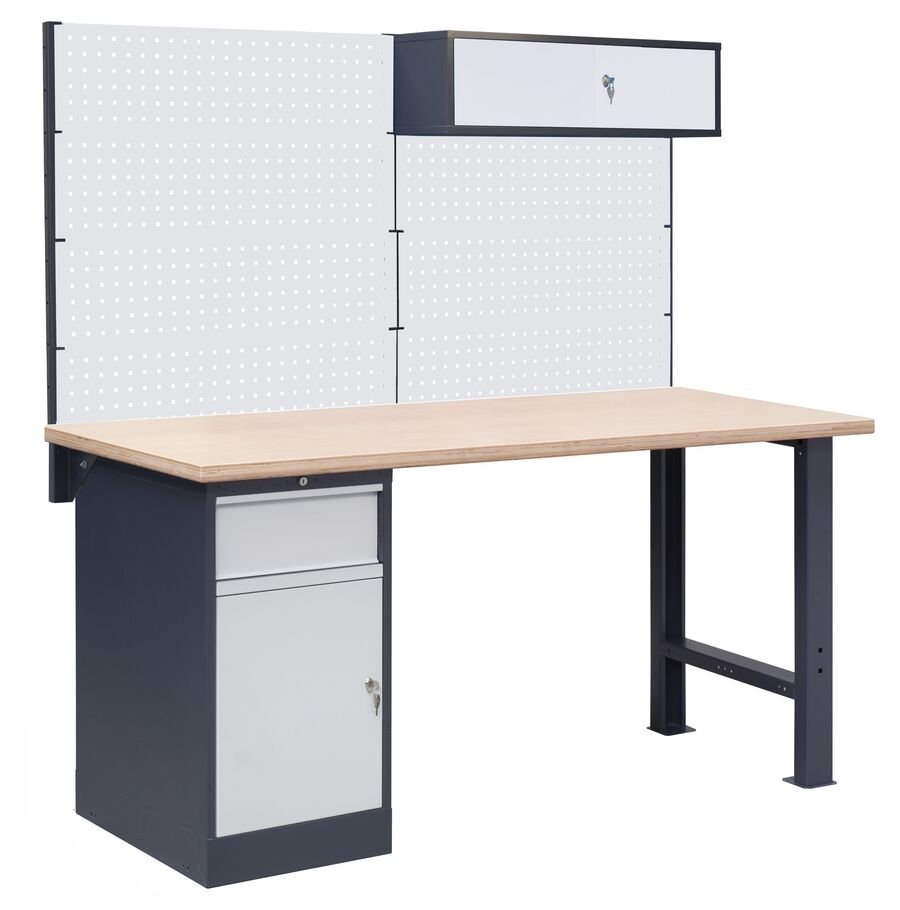 Stół warsztatowy OL03/O3 z nadbudową PL03/7T/1S