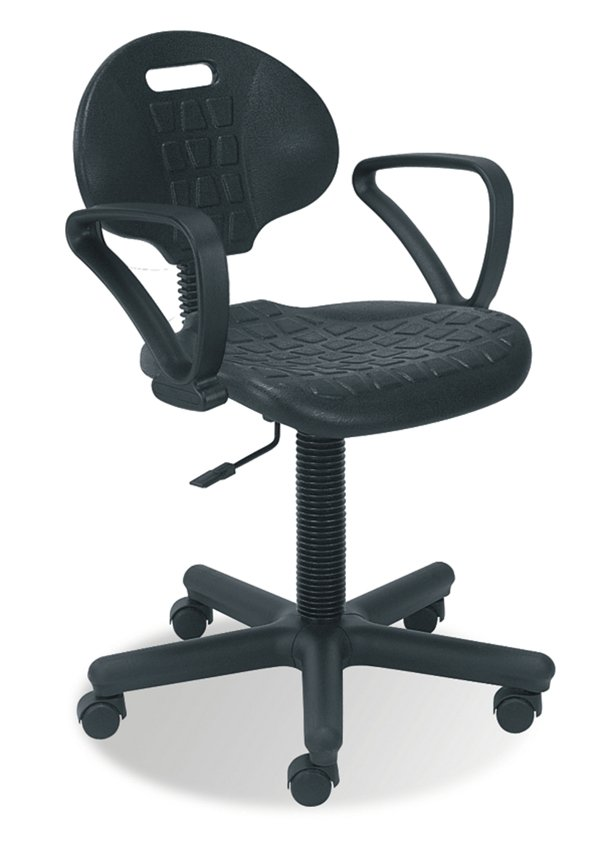 Krzesło warsztatowe NEGRO GTP na kołach z podłokietnikiem