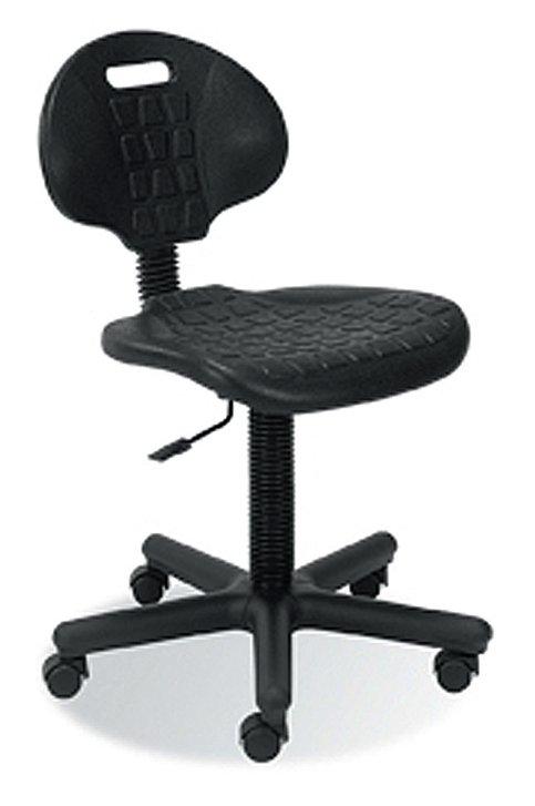 Krzesło warsztatowe NEGRO GTS na kołach